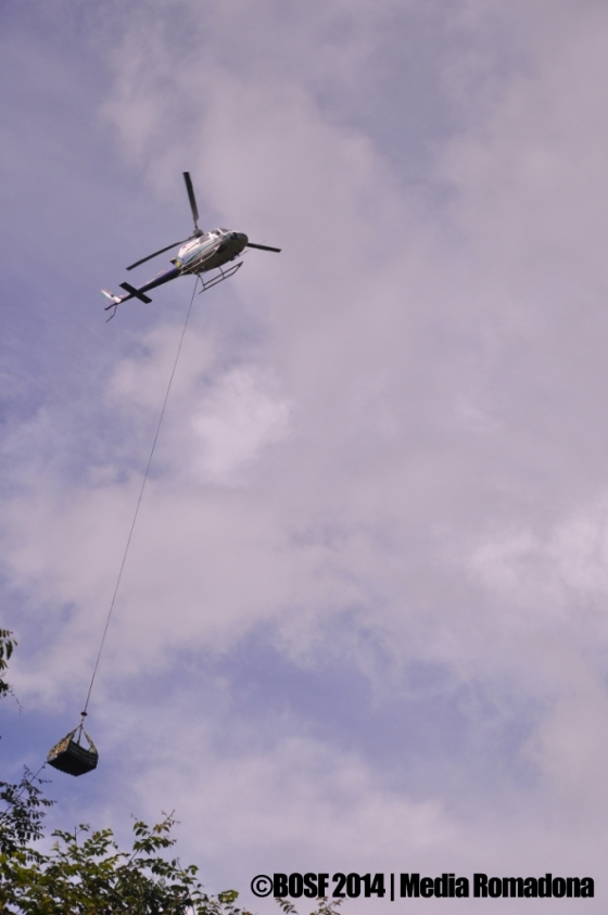 Helicopter arrived in Batikap